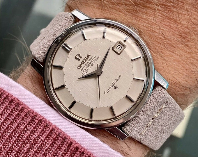 Omega Constellation Automatic Pie Pan vintage Steel Bracelet Jumbo 35mm mens 1966 watch