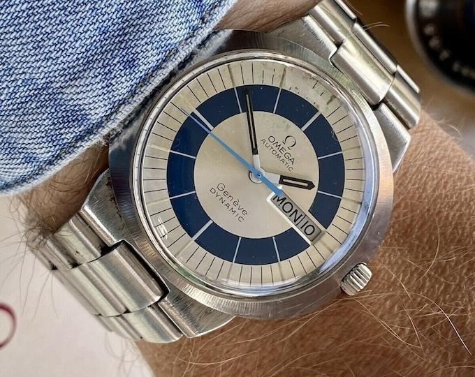 Omega Automatic Geneve Dynamic Steel Bracelet Men Vintage Day Date 38mm serviced September 2021 watch