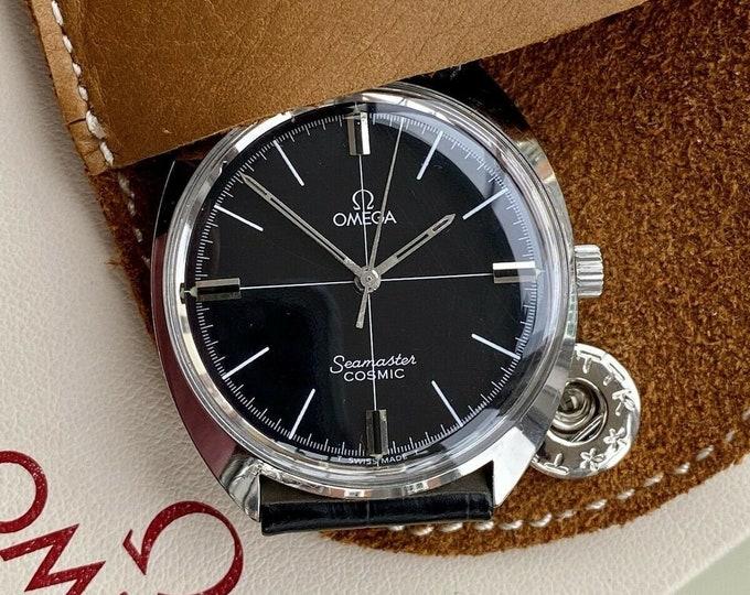 Omega Seamaster Cosmic Steel Mens Vintage Mechanical Black Dial used 1968 watch