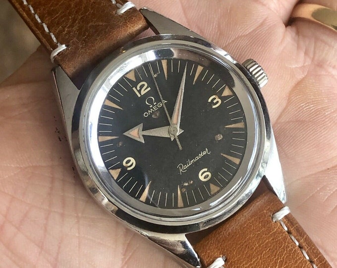 1957 Omega Railmaster 37mm Mechanical Calibre 284 Vintage Steel 2914 - 3 SC men very rare watch