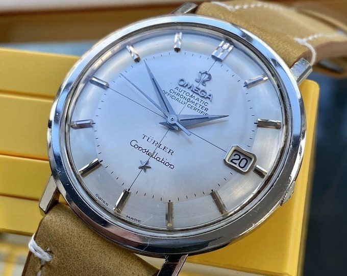 Omega Constellation Turler Automatic Pie Pan vintage Steel mens 1963 rare watch serviced May 2021