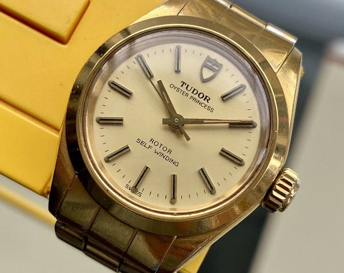Tudor Rolex Made Princess Oyster Ref 92201 Automatic vintage Gold 25mm Serviced watch