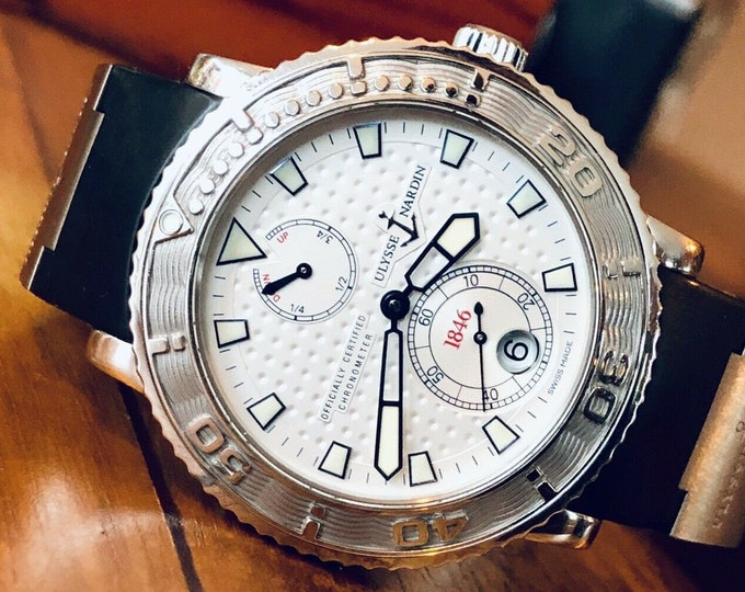 Ulysse Nardin Maxi Marine 18 Gold Medals Automatic Chronometer Divers Used watch Limited Edition 263-51 Serviced December 2019 + New Box