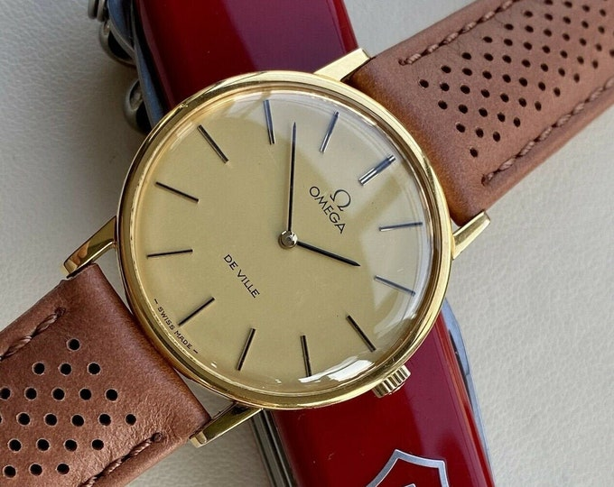 Omega Used Mechanical Battery De Ville Gold Plated Vintage Men's 1975 serviced April 2021 watch