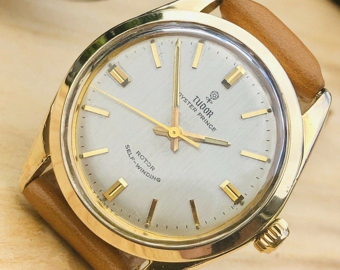 Tudor Rolex Oyster Prince Rose Ref 7995 vintage Gold Mens Automatic 34mm watch