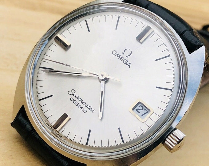 Omega Mens Seamaster Cosmic 1962 Stainless Steel second hand vintage Watch calibre 613 Mechanical 1962 Mechanical wristwatch + Box