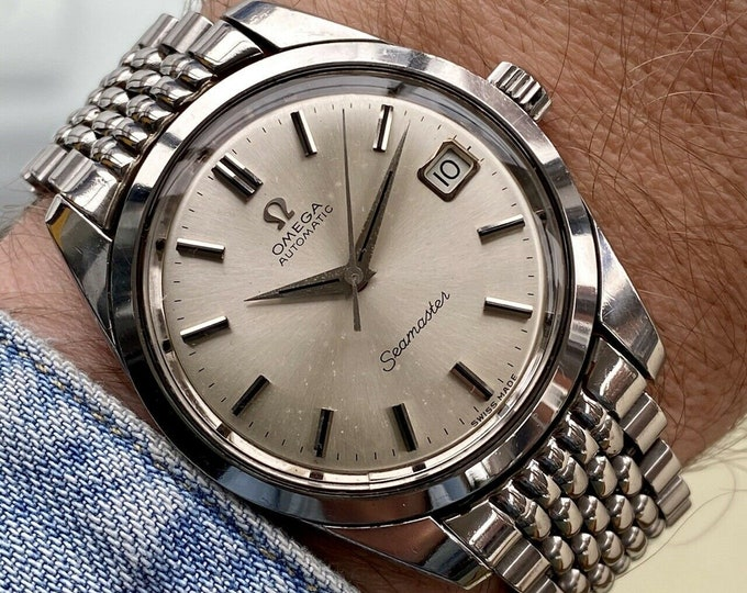 Omega Seamaster Beads Of Rice Bracelet Vintage Steel Mens Automatic 1966 watch