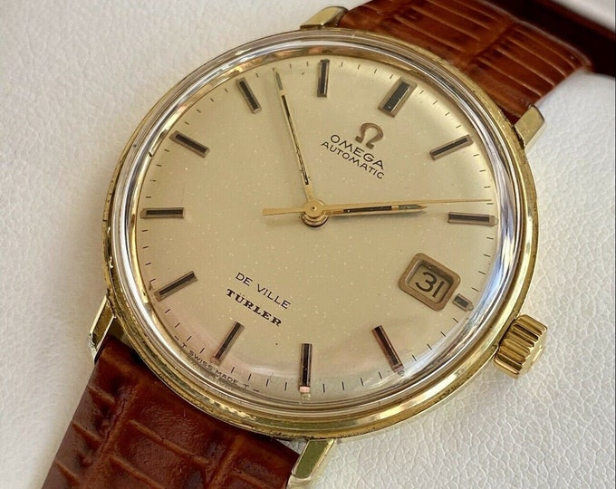 Omega Automatic De Ville TURLER Gold Capped Mens Vintage 1960s serviced watch