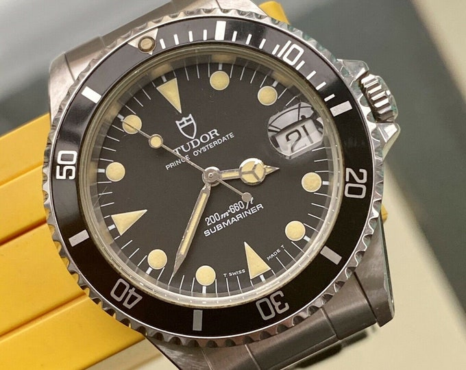 Tudor Sub Submariner Prince Oysterdate Full Set Rolex vintage 1990s papers Serviced October 2020 Watch