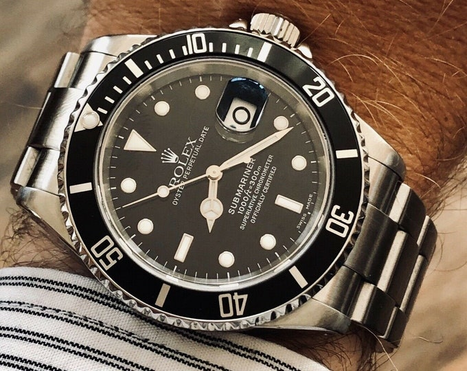 Rolex 16610 Submariner Black Dial Steel Mens watch Semi Vintage 2002 Y Caliber 3135 + Box
