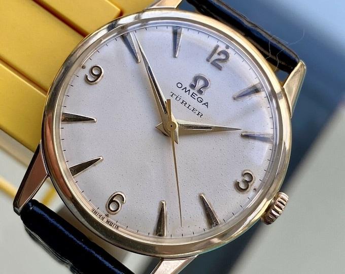 Omega vintage 1959 vintage TURLER fine jewellers mechanical mens antique serviced October 2020 watch + New Box