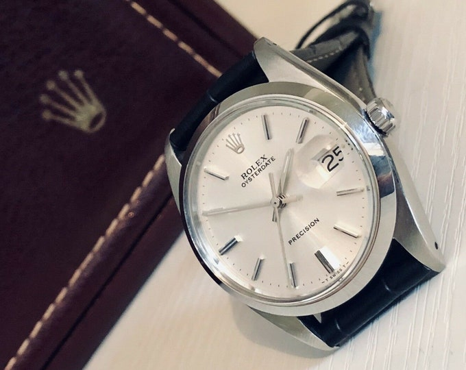 Rolex Oyster 6694 Date Oyterdate Datejust Precision vintage 1960s Mechanical Mens watch fully working gents wristwatch + box