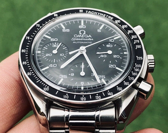 Omega Speedmaster 3510.50 Black Dial Stainless Steel bracelet Men's Automatic Reduced 39mm watch + Box