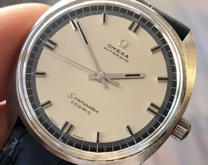 Omega Seamaster Cosmic Automatic Calibre 552 Steel Blue Dial vintage mens 1966 watch + Box