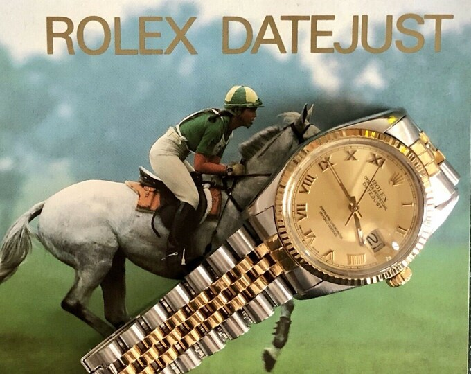 Rolex Oysterdate Perpetual vintage Gold Steel Two Tone Datejust Men 1982 vintage Serviced July 2020 watch + Box