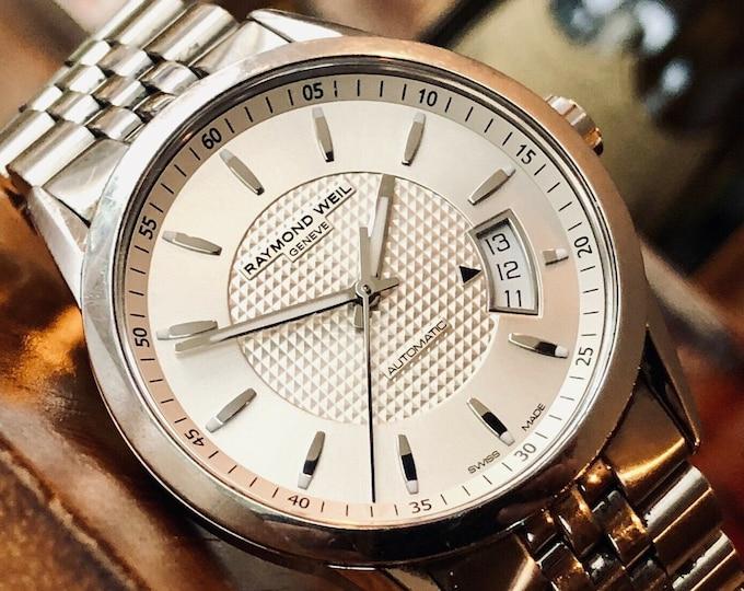 Raymond Weil 2770 Freelancer Mens Swiss Steel 38mm Mens Automatic watch + Box