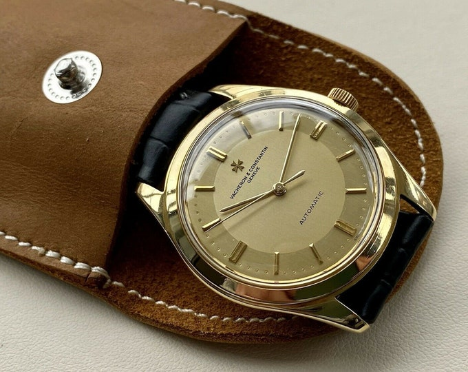 Vacheron Constantin Vintage 18K Solid Yellow Gold Dial men's Automatic Serviced October 2020 Watch Box