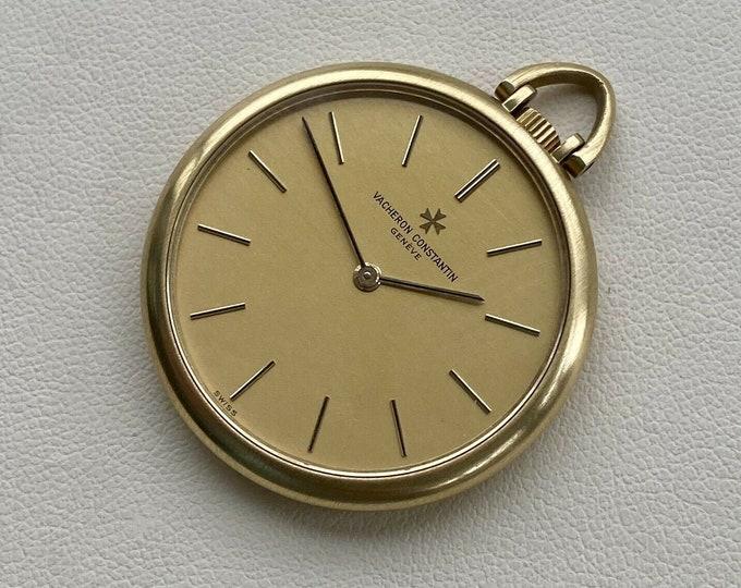 Vacheron Constantin Vintage 18K Solid Yellow Gold Dial mens Antique 1980 Pocket Watch