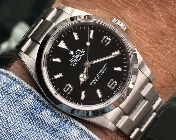 Rolex Oyster Perpetual EXPLORER 114270 2003 Like 14270 Box & Papers watch + NATO