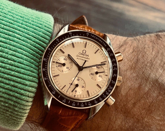Omega 1988 Vintage Speedmaster Cal 1140 Men's chronograph reduced 38mm Automatic watch + Box