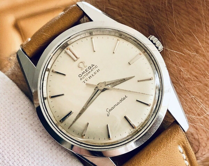 OMEGA TURLER Automatic Seamaster Mens vintage 1961 Calibre 552 watch + New Box