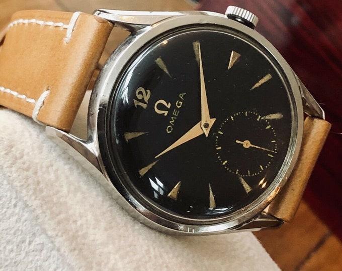 Omega Sub Seconds Original Black Dial Men Mechanical Cal 266 vintage 1954 watch