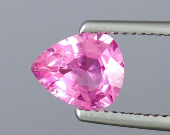 1.80 ct IF Pink 100% Natural Spinel Flawless gemstones Pear cut 9 x 7mm for diamond engagement ring mount