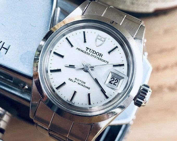 Tudor Rolex Princess Oysterdate Steel Automatic womens 24mm steel Ref 1172 watch + New Box