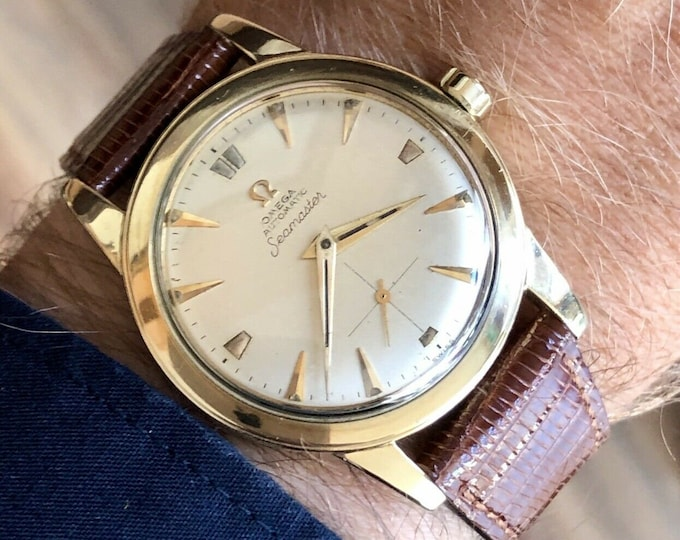 Omega vintage 14K Gold Filled Seamaster Sub Dial Men's Automatic watch Serviced August 2020