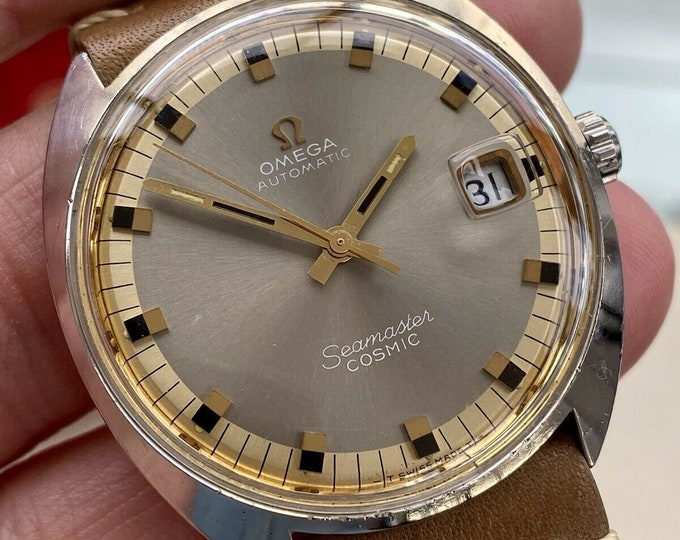 Omega Seamaster Cosmic Steel Mens Vintage Automatic Date used preowned 1960s Caliber 565 watch