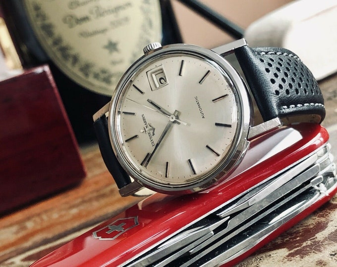 Ulysse Nardin Steel Automatic N11HB vintage 1960s mens serviced Sep 2020 watch + Box