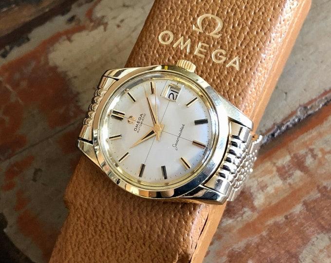 Omega Mens Seamaster vintage 1959 Mens watch Gold bracelet Serviced Feb 2020 + Box
