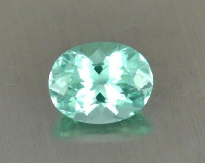 2.20 Ct FLAWLESS Aqua Blue Oval cut Tourmaline Gemstone 9mm x 7mm paraiba origin Paach Mine, Pakistan - very near the Kashmir border