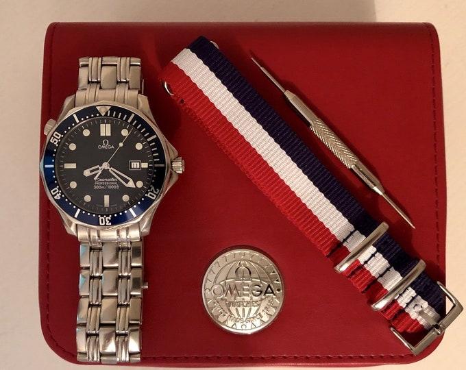 Omega Seamaster Professional Quartz 300m Full Size 41mm James Bond 007 Watch 2541.80.00 Box + Nato band + warranty card