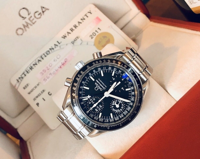 Omega Speedmaster Mark 40 Men's Black Dial Triple Date Automatic M40 watch + Box + Service Report