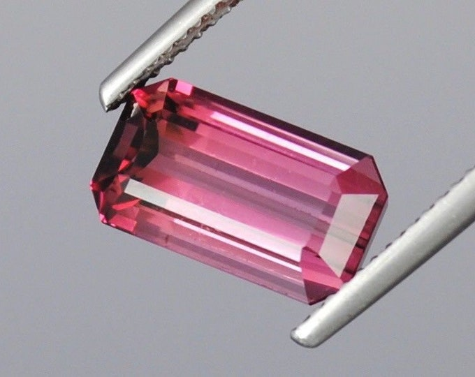 4.80 ct Flawless Pink 100% Natural Tourmaline emerald cut gemstone 12x7x6mm