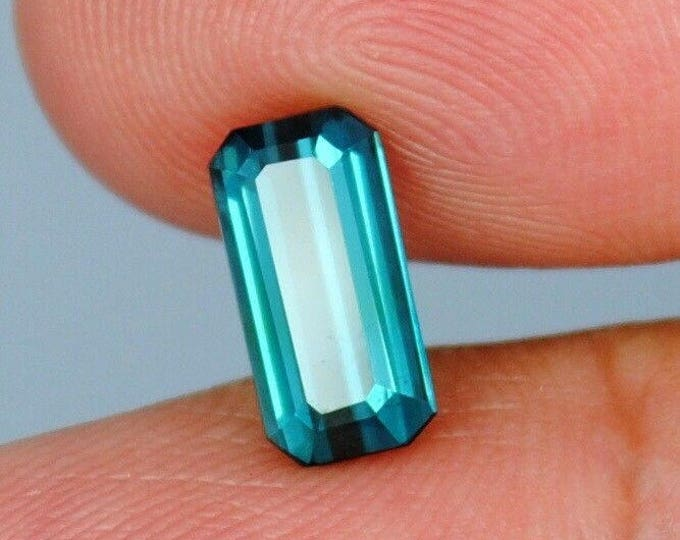 1.90 ct IF Sapphire Blue 100% Natural Tourmaline rare gemstone