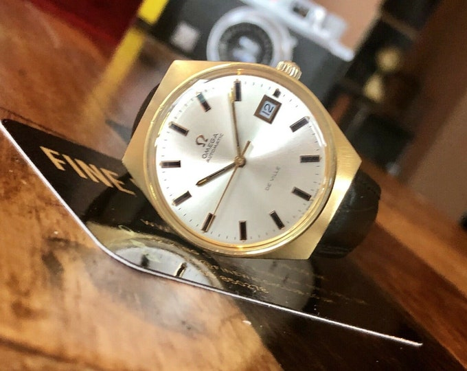 Omega vintage 1969 Mens watch Gold De Ville Automatic Serviced watch + Box
