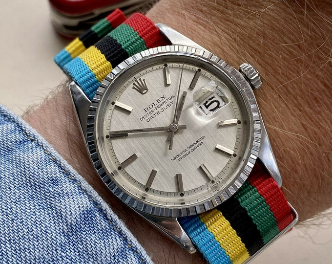 Rolex Oyster Perpetual 1570 Stainless Steel vintage Men 1970 Nato vintage watch