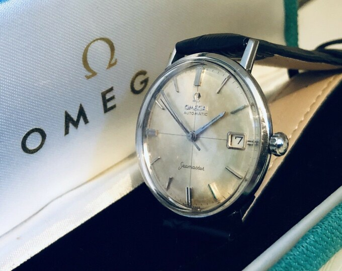 Omega Seamaster vintage watch Mechanical Automatic Stainless Steel with Date and bracelet 1960s used second hand + Box
