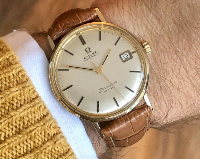 Omega Seamaster De Ville Gold Capped Steel Automatic 1967 vintage watch + Box
