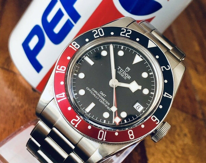 Tudor 2019 Black Bay Heritage 79830RB Automatic Pepsi GMT Mens Full Set watch + Box + Receipt