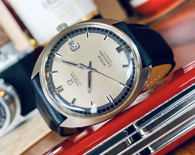 Omega Seamaster Cosmic Automatic Date vintage mens 1960s watch + New Box