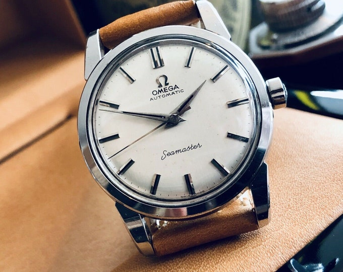 Omega Automatic Seamaster 1958 Mens Vintage Stainless Steel Calibre 501 watch