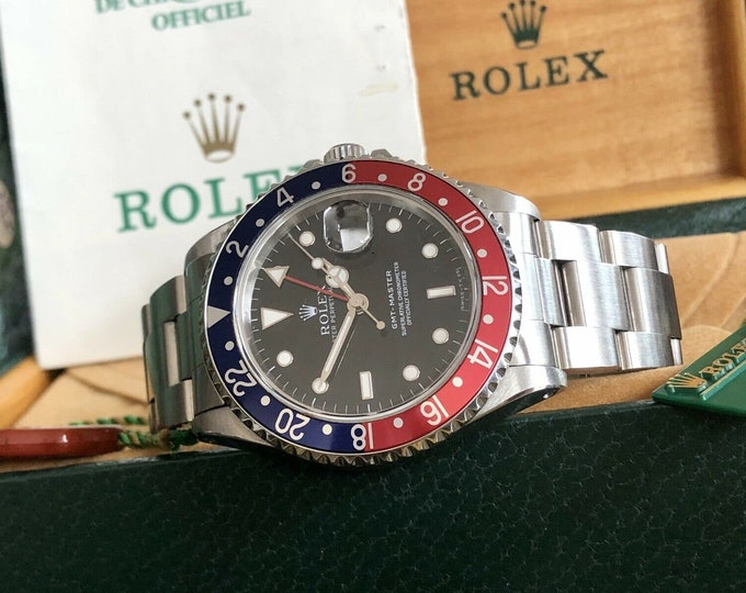 Rolex Pepsi GMT Master 16700 1997 Men's Steel used watch Full set Box + Papers + History