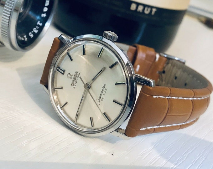 Omega Seamaster De Ville vintage watch cal 552 automatic Steel 1960s used second hand wristwatch + Box