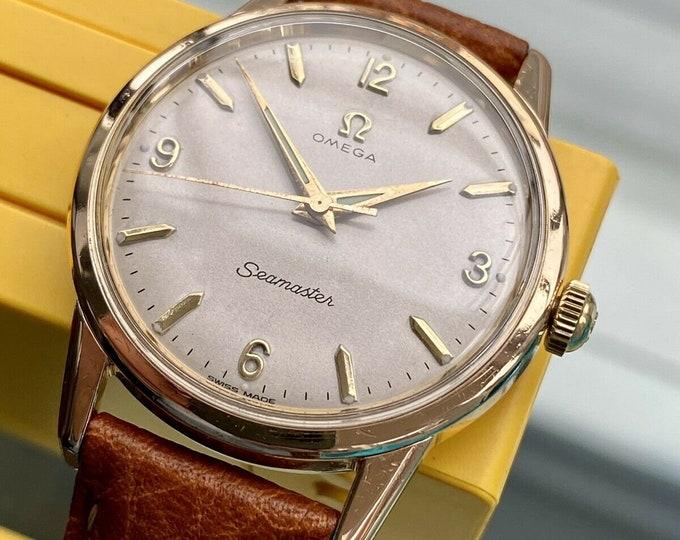 Omega Seamaster Rose Gold Mens Vintage 285 Hand Winding Jumbo 35mm 1959 watch