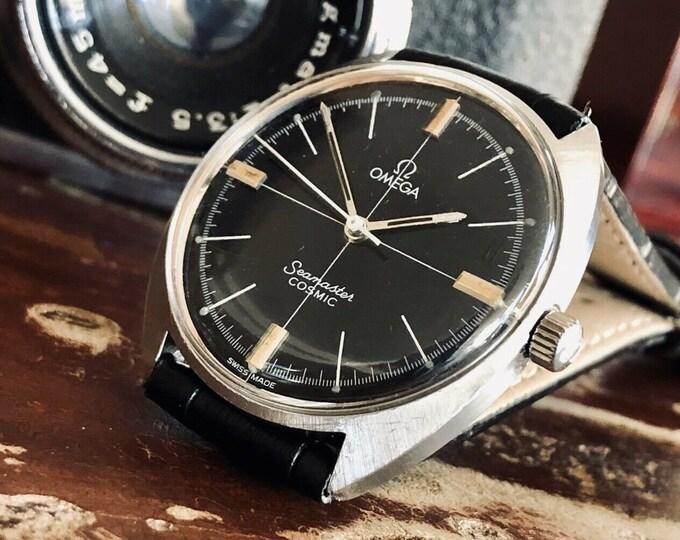 Omega Seamaster Cosmic Mechanical Caliber 601 Date Black Dial vintage mens 1969 watch + Box