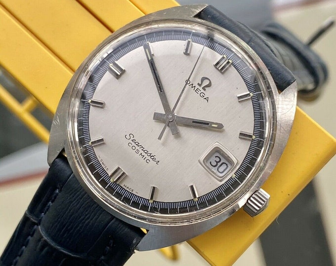 Omega Seamaster Cosmic Steel Mens Vintage Mechanical Hand Winding Date used preowned 1962 serviced May 2021 watch