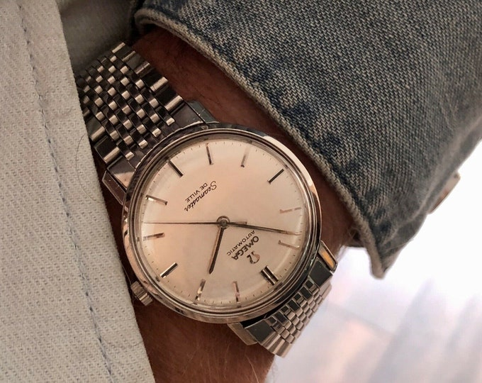 Omega Seamaster De Ville Steel Mens Vintage 1963 steel bracelet serviced June 2020 used second hand watch
